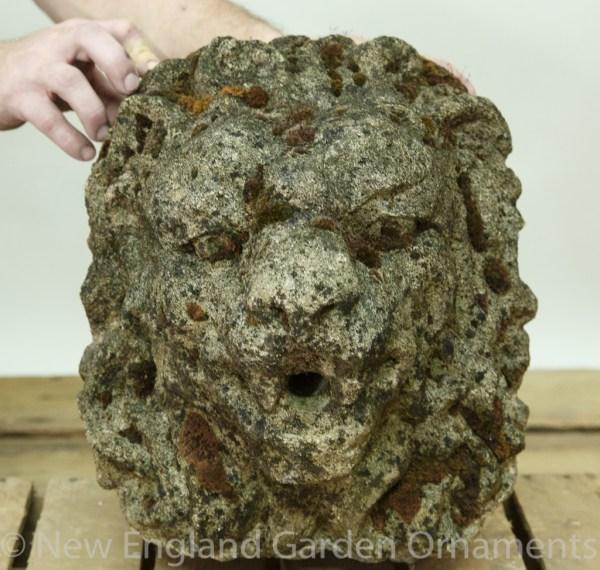 Carved Lion Head Fountain - England Garden Ornaments