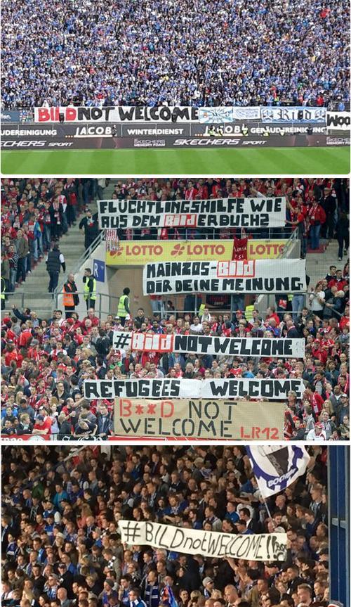 Protestos de torcidas da Bundesliga contra o jornal Bild
