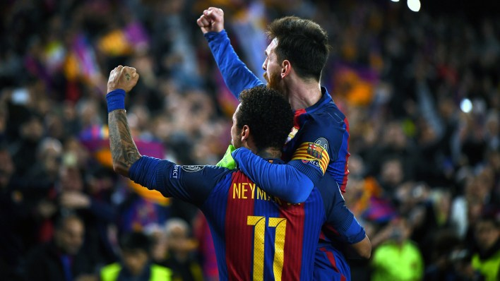 Neymar e Messi, do Barcelona (Photo by Laurence Griffiths/Getty Images)