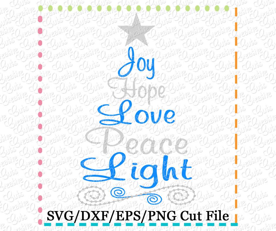 Download Joy Christmas Tree SVG DXF EPS - Creative Appliques