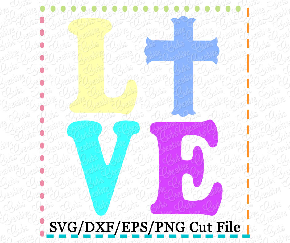 Download Love Cross Cutting File SVG DXF EPS - Creative Appliques