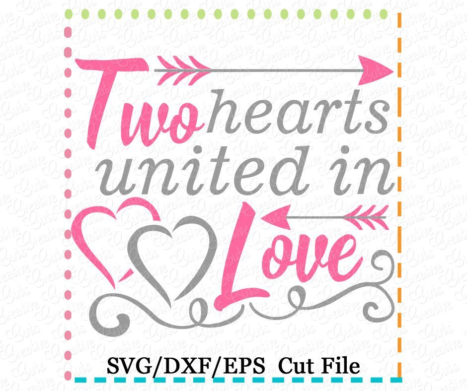 Download Two Hearts United in Love Cutting File SVG DXF EPS ...