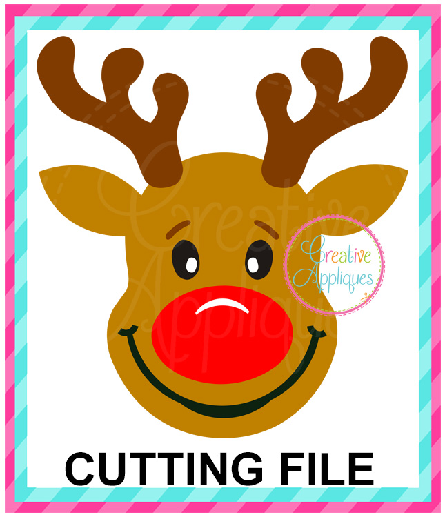 Download Reindeer Cutting File SVG DXF EPS - Creative Appliques
