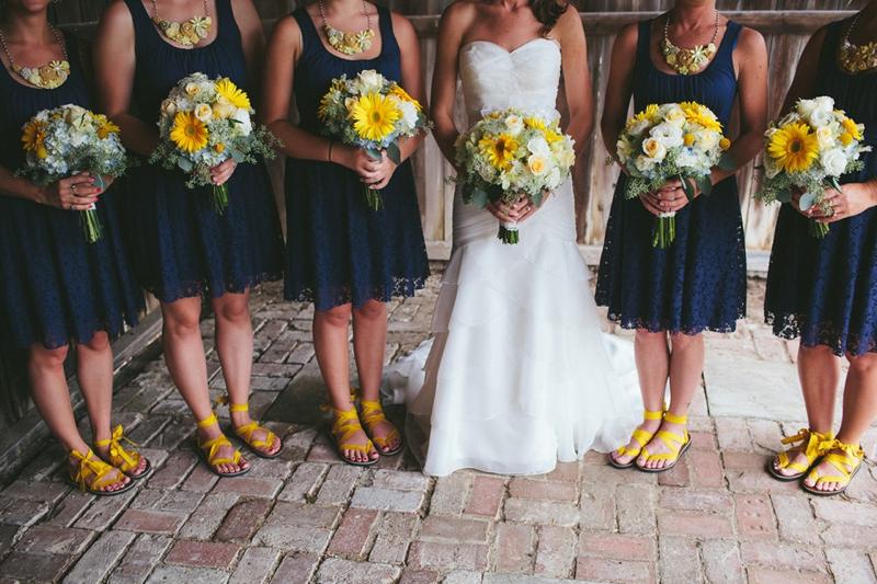 Yellow & Navy Rustic Ohio Wedding By BRAUNphotography