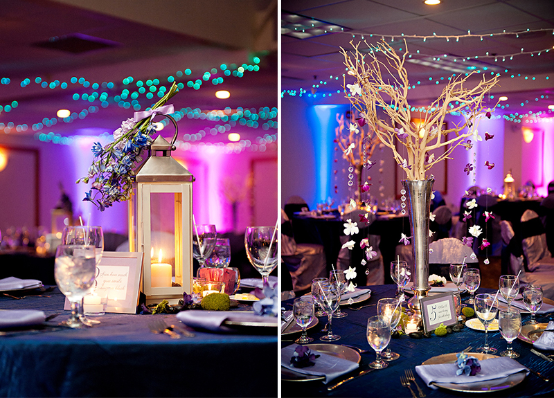 Classic and Eclectic Purple and Blue Wedding  Every Last