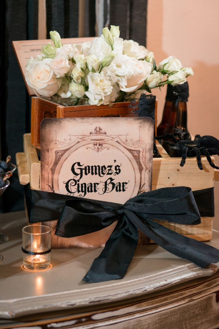 Elegant Halloween Inspired Engagement Party Ideas  Every Last Detail