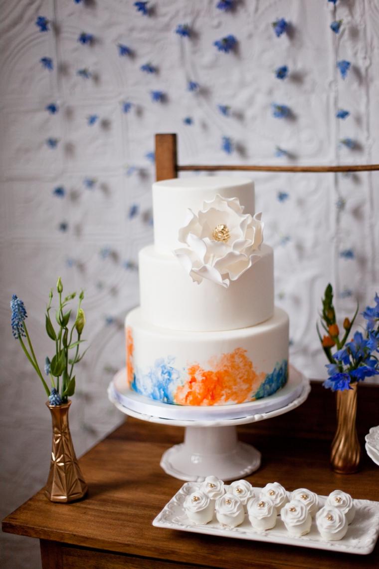 Mediterranean Inspired Orange  Blue Wedding Ideas  Every Last Detail