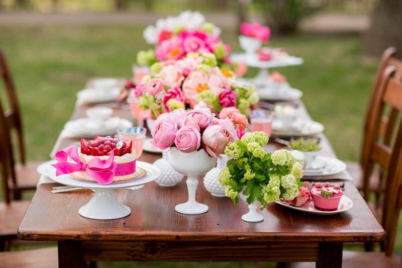 Hot Pink Garden Bridal Shower Ideas