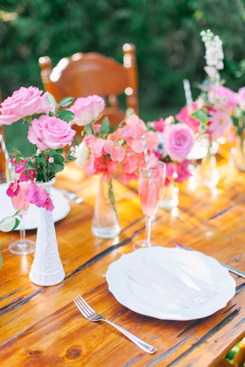 Eclectic Pink  Orange Boho Wedding Ideas  Every Last Detail