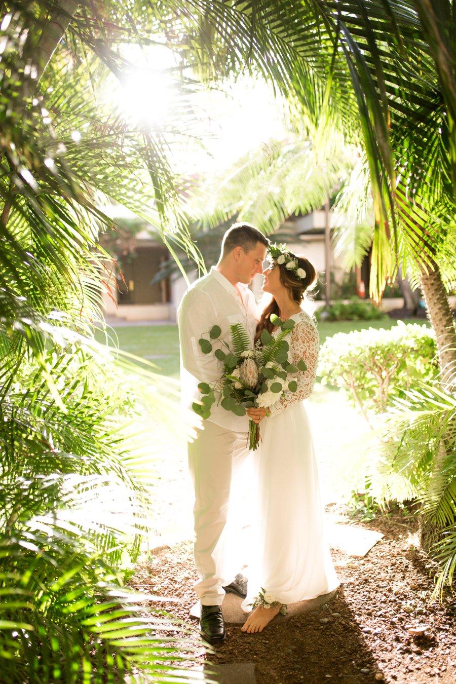 Elegant Green  White Hawaiian Wedding Ideas  Every Last
