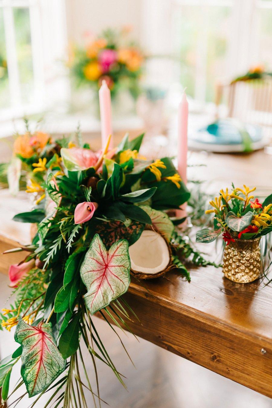 Colorful  Elegant Tropical Wedding Ideas  Every Last Detail