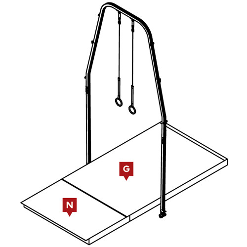FIG Competition Rings Landing Mat Configuration