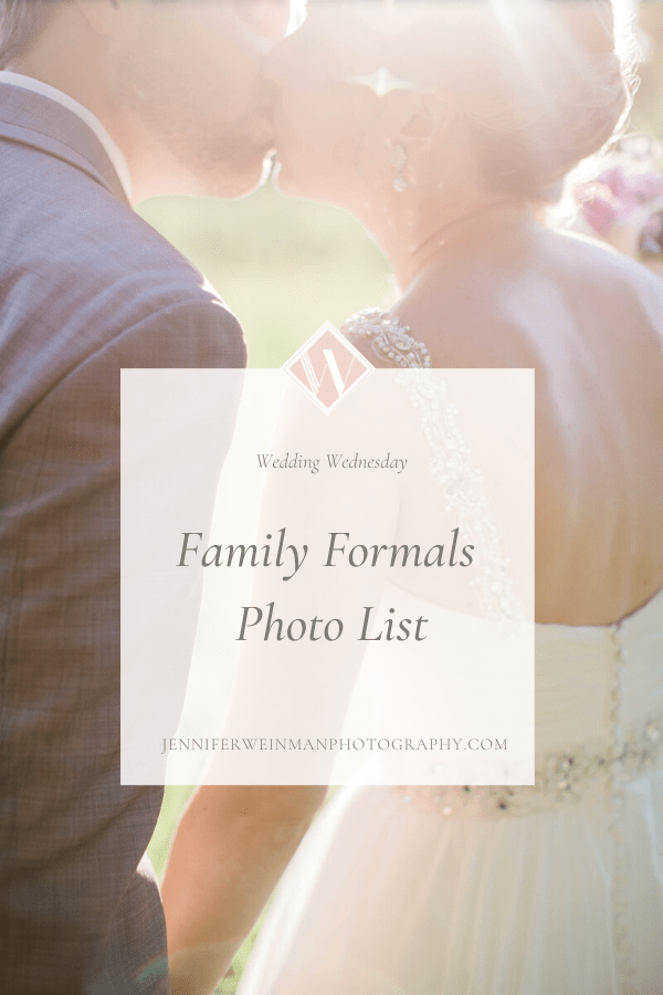 Family Formals Photo List