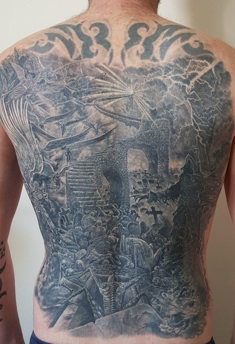 Heaven And Hell Back Tattoo : heaven, tattoo, Heaven, Tattoo, Image, Collection
