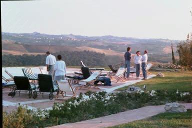 Fattoria Santo Stefano Villa Vignola pool view