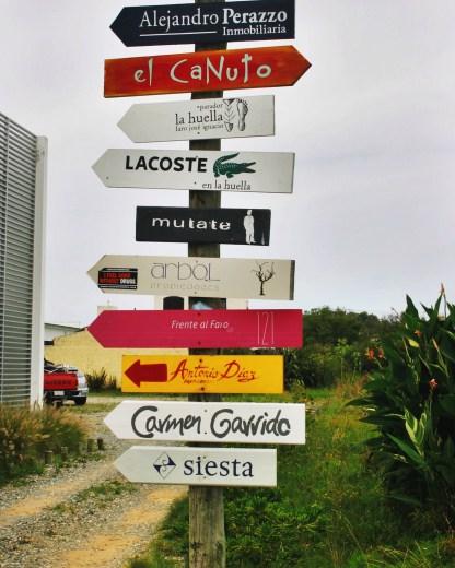 Jose Ignacio signpost