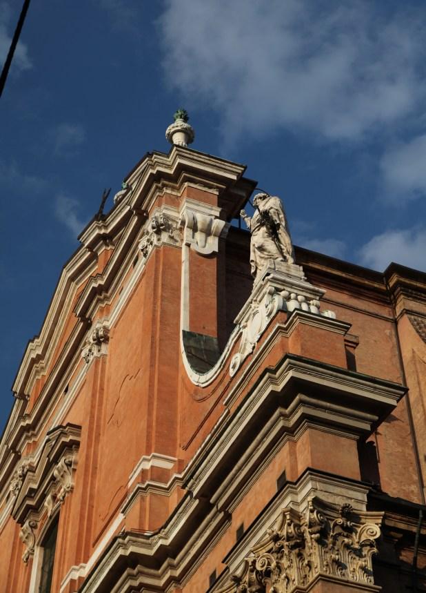Bologna church statues