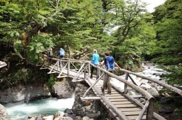 Torres del Paine Towers trail bridge