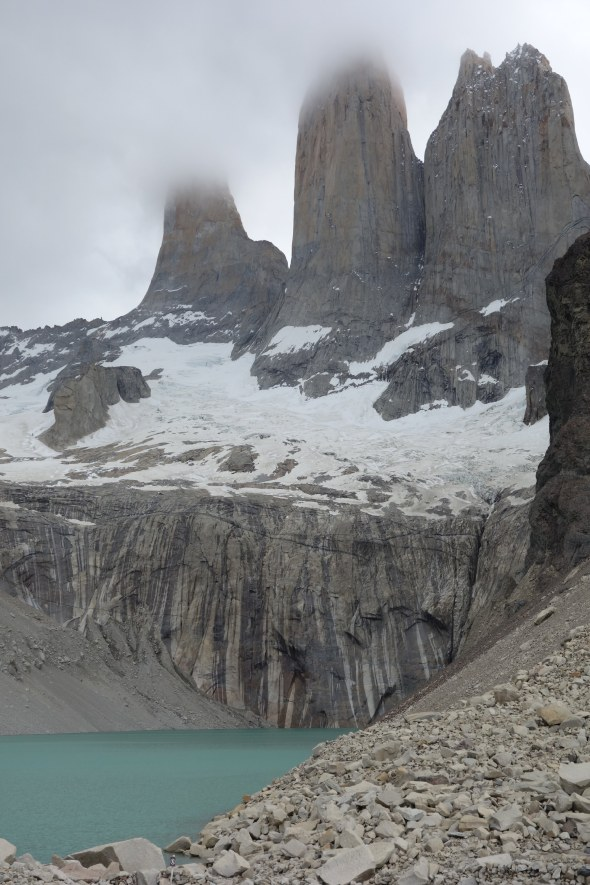 Torres del Paine National Park base of the Towers wider