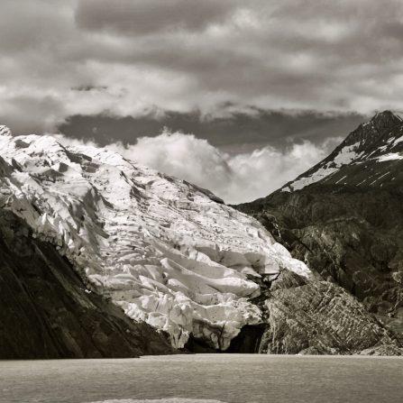 Torres del Paine Grey's Glacier B&W