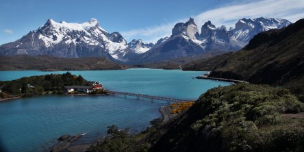 Torres del Paine National Park wide view