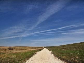 Tallgrass Prairie National Preserve road and sky