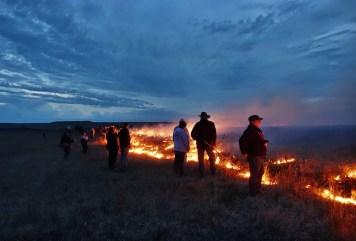 Flying W Ranch burning men