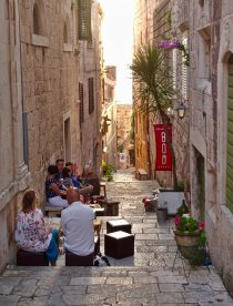 Korcula restaurant alley