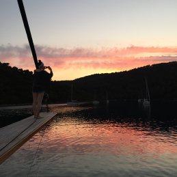 Mljet sunset Rachel