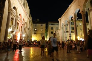 Split Forum at Night
