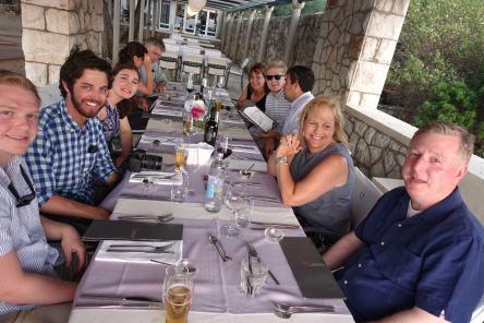 Villa Ruža restaurant groupshot