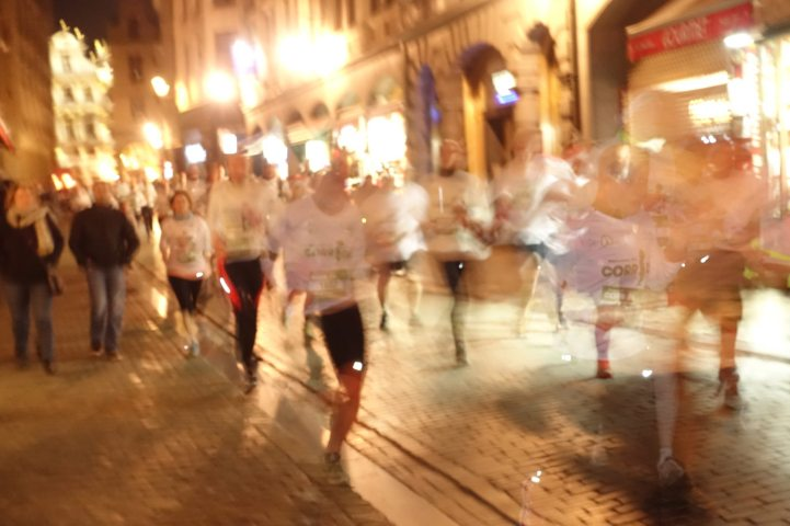 Brussels Santa Run blur