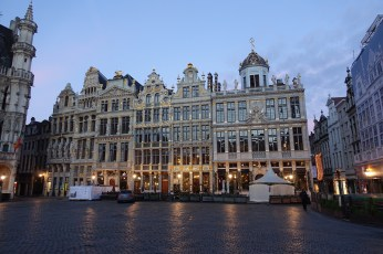 Brussels Grand Place Christmas Morning