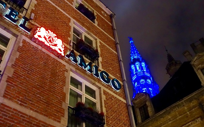 Hotel Amigo Brussels at night