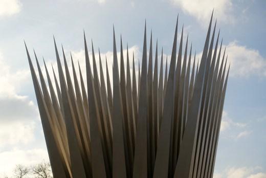 Prague steel sculpture