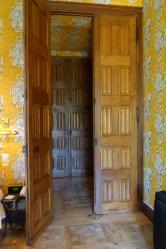 Chateau de Riell bedroom door