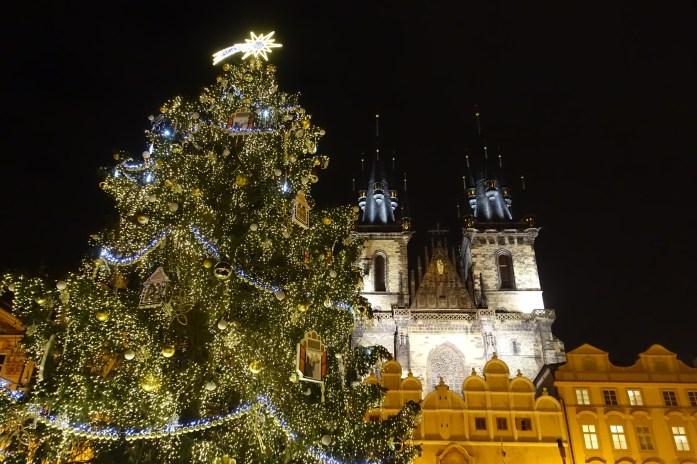 Prague square Christmas tree