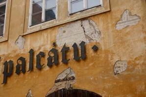 Prague sign detail
