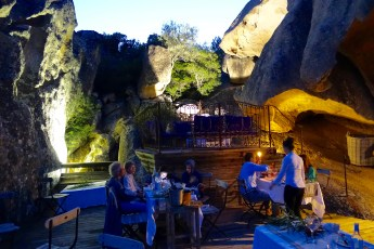Domaine de Murtoli La Grotte terrace at night