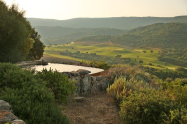 Domaine de Murtoli dawn pool