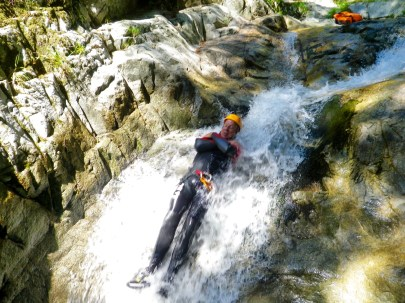Canyoning in Corsica slide
