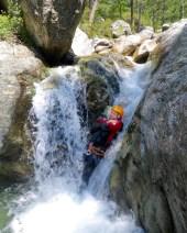 Corsica Canyoning chute slide
