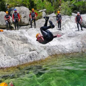 Corsica Canyoning backflip