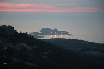 L'Ille-Rousse harbor at dusk