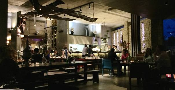 Areias do Seixo lobby bar at night