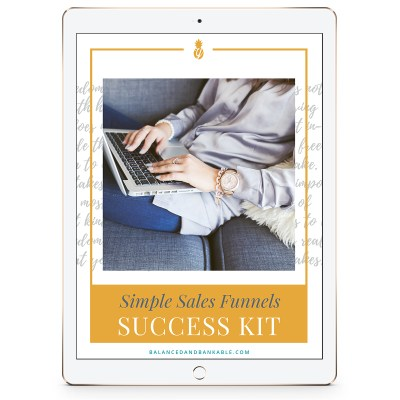 iPad with Workbook Cover - Simple Sales Funnels Success Kit iPad