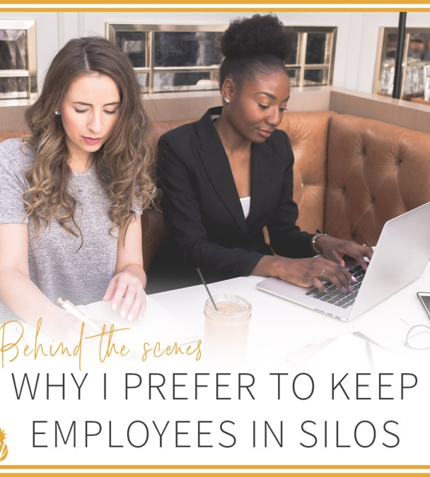 Behind The Scenes: Why I prefer to keep employees in silos