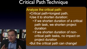 project critical path