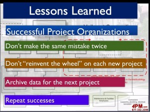 Project Lessons Learned