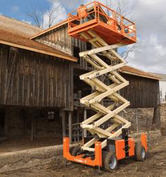 jlg 530lrt rough terrain scissor lift [ 1600 x 1200 Pixel ]